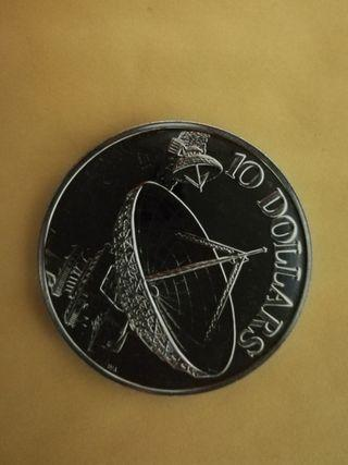 Singapore Satellite 10dollars commemorative coin 1980