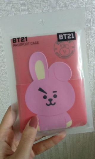 Cooky BT21 linefriends paspor case