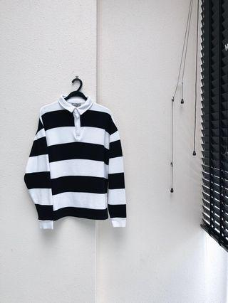 ASOS Striped Rugby Polo (Unisex)