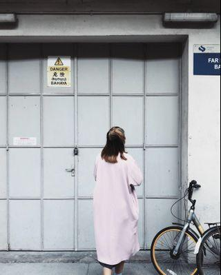Styledasher COLETTE Longline Coat in Pink