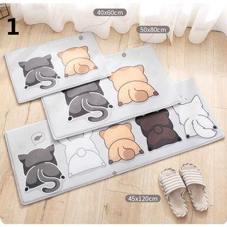 Doormat Cute Cats Printed Bathroom Kitchen Carpet Home Mat Anti-Slip Floor Mats #EndgameYourExcess