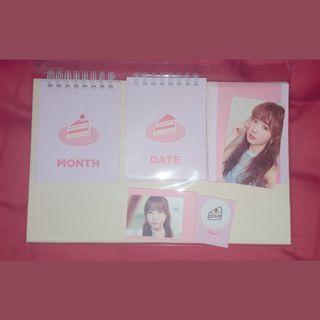 IZ*ONE Secret Time Official Calendar & Hitomi Photocard