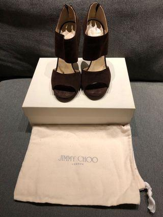 "Jimmy Choo ""PRIVATE"" Suede Heel Sandals"