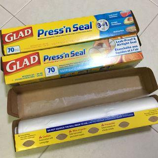🚚 $4 per roll of GLAD press n seal microwave safe sealing wrap