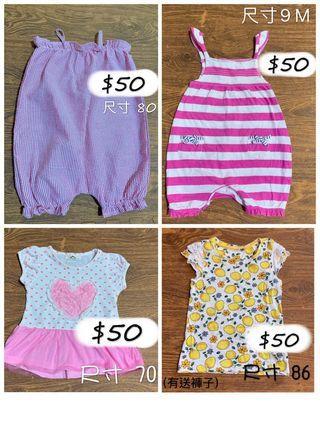 🚚 嬰幼兒短袖上衣 (可與其他商品湊三件免運)