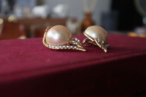 珍珠耳環|Vintage 復古 古著