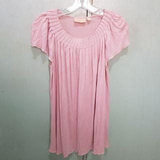 For Me Pink Gathered Top