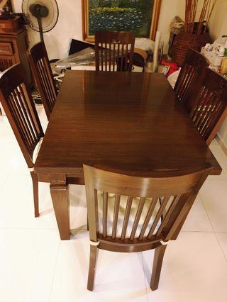 🚚 Solid Teakwood Dining Table n chairs