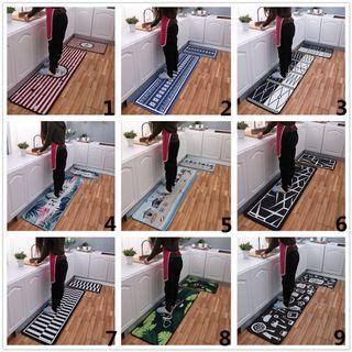 2pcs/set Geometric Pattern Kitchen Mats Anti-slip Oil Absorption CarpetS #EndgameYourExcess