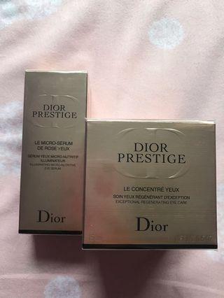 包順豐 原價$2750 Dior Prestige 眼精華 眼霜 套裝