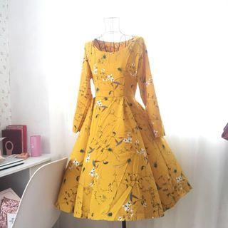 Floral Midi Dress #FEBP55