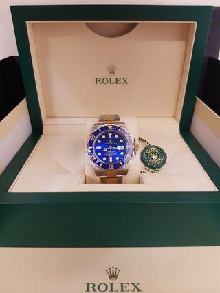 Rolex Submariner Half Gold 116613LB Sunburst Dial
