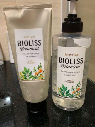 香港正貨 Kose Bioliss Shampoo & treatment 洗頭水