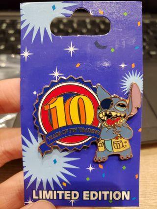 10th Anniversary stitch Le Disney