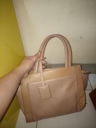 Jimshoney brown bag tas hand bag cream coklat
