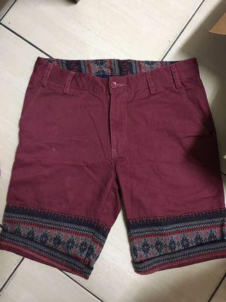 pirates民族風100%短褲