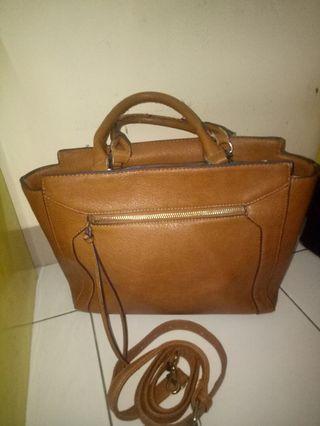 Stradivarius handbag brown tas coklat