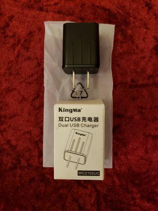 全新 Brand New KingMa Dual USB Charger 雙口USB充電器
