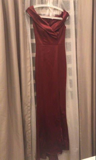 Dinner dress - Burgundy / Dark red