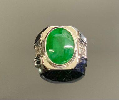 Jade A Ring 750 White Gold