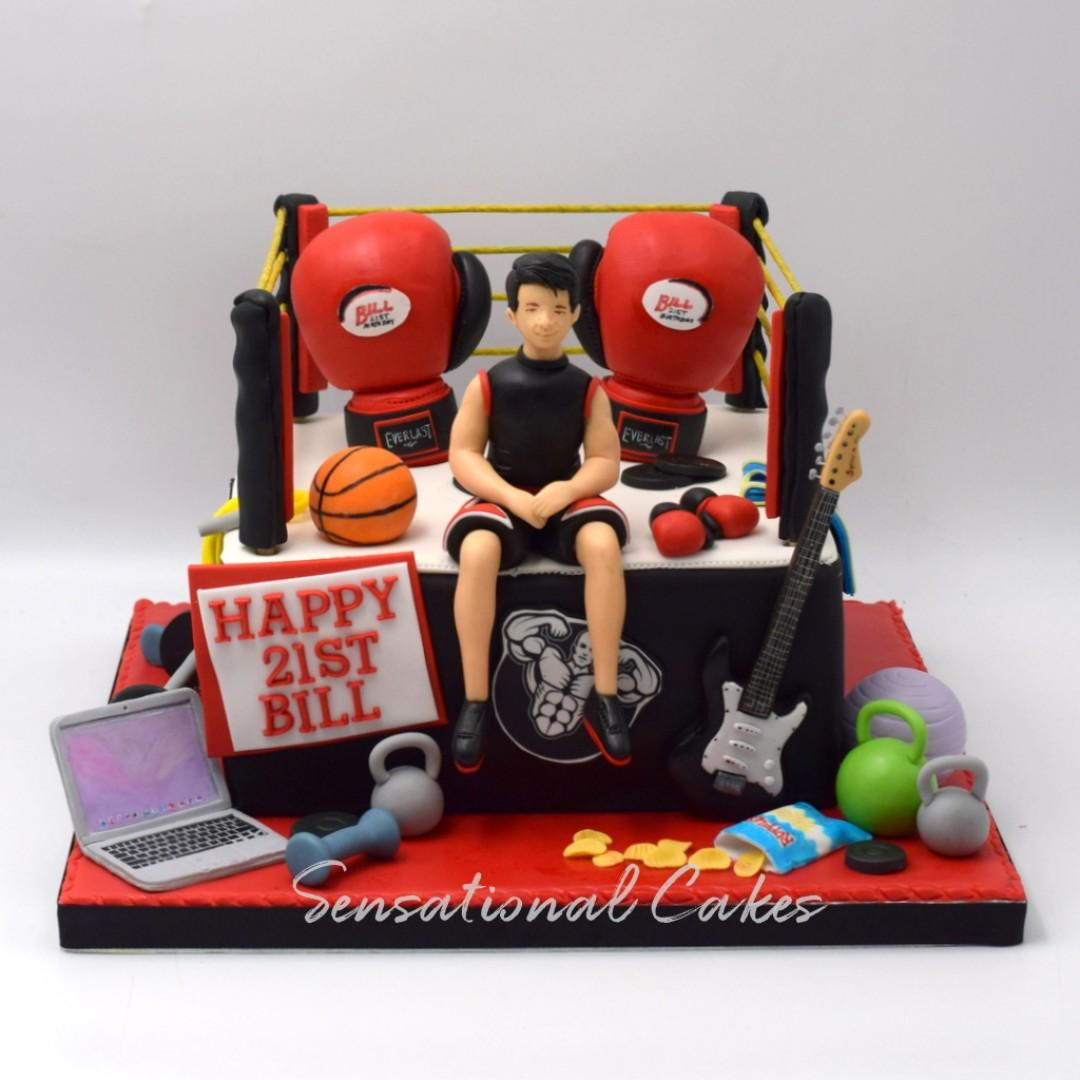Admirable 21St Birthday Boxing One Mma Fighting Theme Favorite Things And Funny Birthday Cards Online Hendilapandamsfinfo