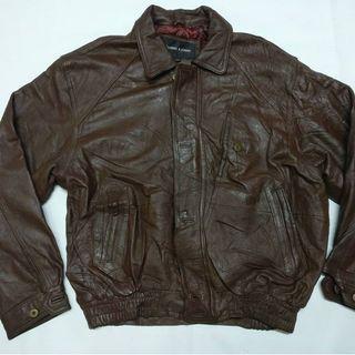 Jaket kulit asli D home XL