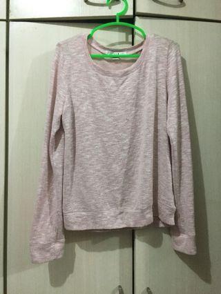 Knitted pullover sweatshirt