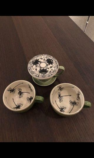 Hand painted Japanese Tea/Coffee Cups
