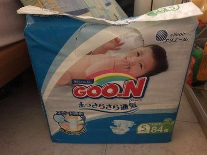 🚚 Unopened Goon diaper S size (84 x 2 packs); picture for illustration only