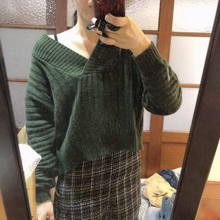 🚚 墨綠色粗針織毛衣