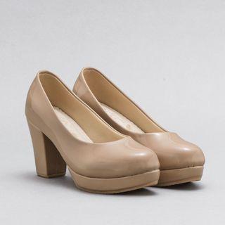 [41] Nude Heels Bareiles Big Size Shoes #cintaibumi