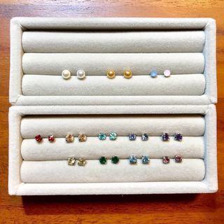 🚚 多款耳環出清|珍珠、單鑽、粉彩石▸簡約百搭款