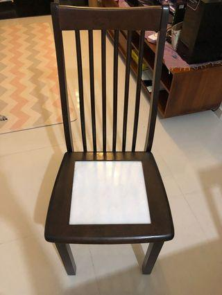 🚚 Wooden Chair with marble