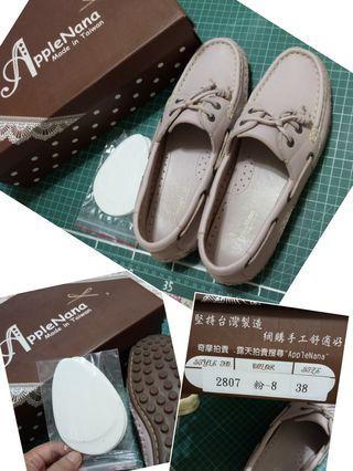 AppleNana牛皮手工氣墊鞋(約39號穿)