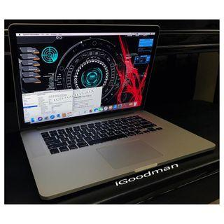 """MacBook Pro 15 2015 512gb SSD (Battery Cycle 11 only) High Spec Quadcore i7 2.2GHz 16gb Memory, Force Touch Trackpad, MagSafe2 85W Charger Apple A1398 Quad-Core 15"""" like New !"""