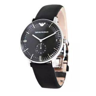 Emporio Armani Men's Gianni Black Dial Leather Watch AR0382