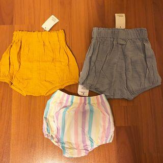 (Free Postage) Set of 3 Girl's Bloomer Shorts Brand new