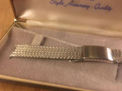 Vintage mesh stainless steel band