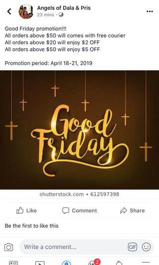 🚚 Good Friday Promotion