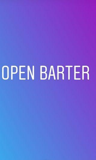 Open barter boleh barter barter yuk barteran