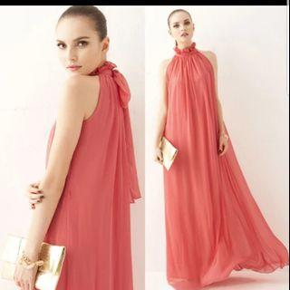🚚 Brand New long dress in green Free Size S to L