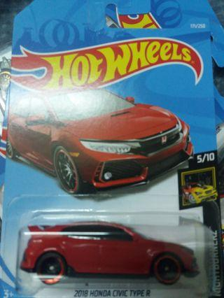 Hot wheels 18 Honda Civic Type R