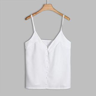 🚚 Sample Sale: White Spaghetti Strap Top - new!