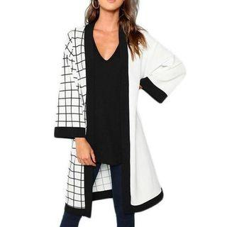 🚚 Sample Sale: Black and White Light Kimono Coat