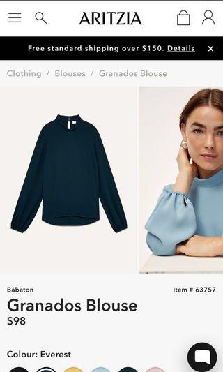 *PRICE DROP* Aritzia - Babaton Granados Blouse Size M - Everest