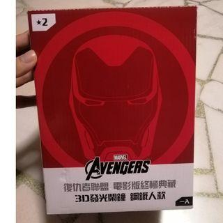 Rare Taiwan 7-11 Avengers End Game IronMan Clock