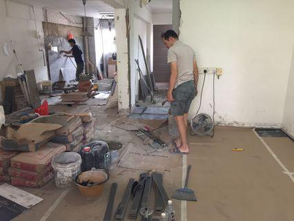 Full Reno Package + hacking + tiling whole house. SG No.1 Unbeatable Reno Package Price