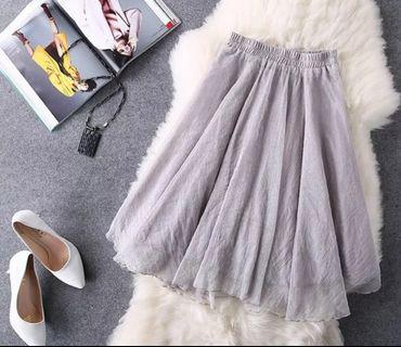 🚚 Brand New Grey long Skirt Fitz S and M