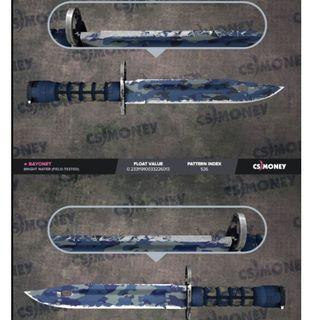 CSGO Bayonet Bright Water FT