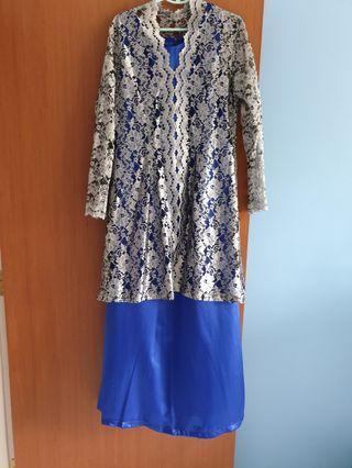 🚚 Raya long dress - blue sliver